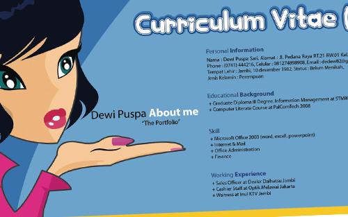 Nah, penasarankan bagaimana sih bentuk dari CV yang menarik itu. Yuk ...