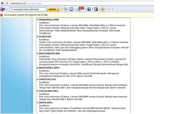 Lowongan Kerja Pt Indomarco Prismatama Indomaret Karir
