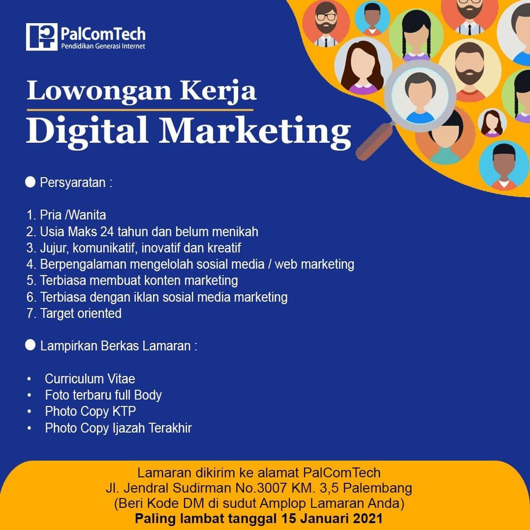 Lowongan Kerja Lkp Palcomtech Palembang Posisi Digital Marketing Karir Palcomtech